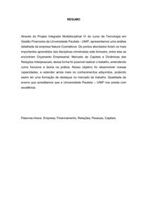PIM 4 - NATURA- GESTAO FINANCEIRA