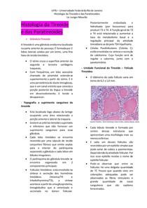 Histologia da Tireoide e das Paratireoides