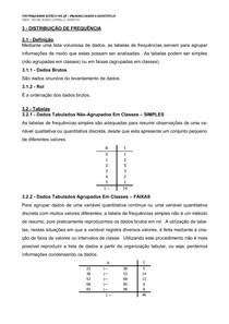 Apostila 3 - Distribuição de Frequências