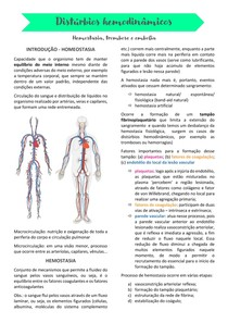Distúrbios hemodinâmicos - hemostasia, trombose e embolia