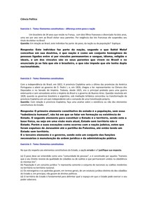 Elementos constitutivos - Povo  nação e Poder Soberano - Exercicios