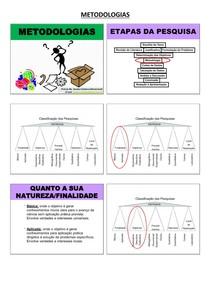 TIPOS DE METODOLOGIAS DE PESQUISA CIENTÍFICA