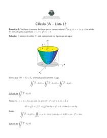 Cálculo III - Lista de Exercícios 12 - UFF
