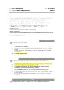 Avaliando Aprendizado 01 Direito Administrativo I