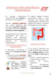RESUMO - DOENÇAS INFLAMATÓRIAS INTESTINAIS (RETOCOLITE ULCERATIVA X DOENÇA DE CROHN)