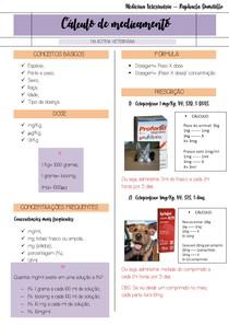 Cálculo de medicamento na rotina Veterinária