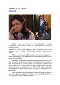 A história de Ana e Penina