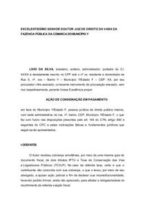 Açao De Consignacao Em Pagamento Direito Tributário I
