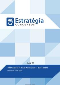 60 Questões de Direito Administrativo   Banca CESPE - ESTRATÉGIA CONCURSOS