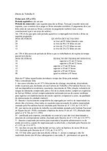 resumão Direito do Trabalho II