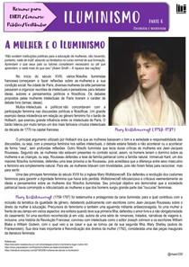 ILUMINISMO a mulher e o Iluminismo