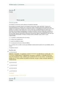 Alfabetização e Letramento prova