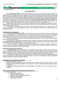 MEDRESUMOS 2016 - BIOÉTICA 11 - Ética em pesquisa