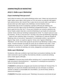 AULA 1 ADMINISTRAÇÃO DE MARKETING ESTÁCIO
