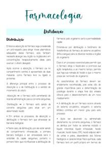 Farmacologia- Farmacocinética (distribuição)