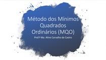 Modelo de Mínimos Quadrados Ordinários (MQO)