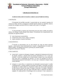 CIRÚRGICAS OTOLÓGICAS (OTOHEMATOMA-TÉCNICAS DE ZEPP - CONCHECTOMIA OU CONCHOTOMIA)
