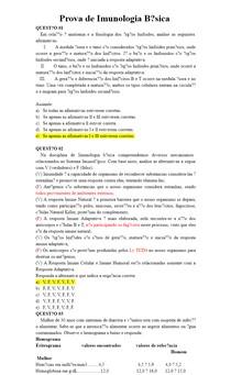 Prova de Imunologia Básica