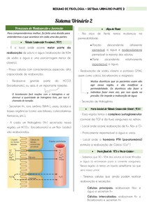 Resumo de Fisiologia - Sistema Urinário Parte 2 | por: @eduardareisnafisio