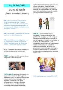 formas de violência previstas na maria da penha - Lei 11 340