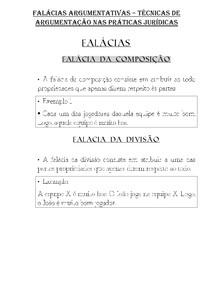 FALÁCIAS ARGUMENTATIVAS