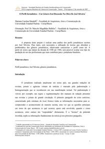 Paper sobre jornalismo literário e perfil