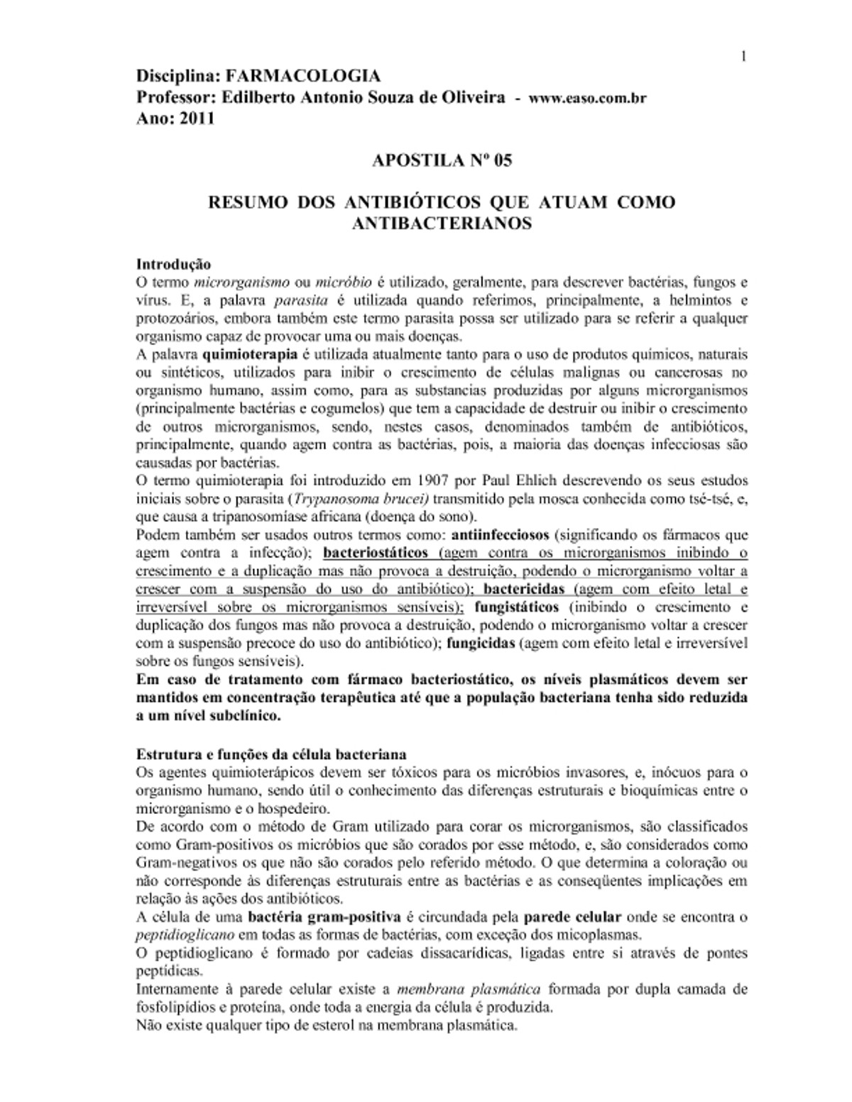 Pre-visualização do material Antibioticos Antibacterianos - página 1