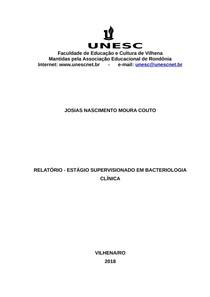 Relatório Estágio Bacteriologia Clínica - Josias