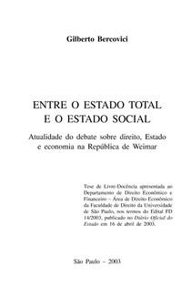 Entre o Estado Total e o Estado Social-desbloqueado