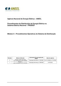 Procedimentos de Rede - ONS - Modulo4 Revisao 1