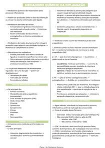 Mediadores químicos da inflamação