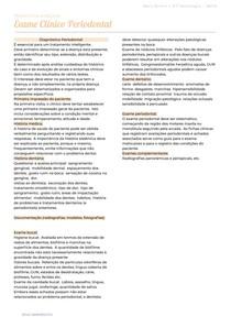 Exame Clínico Periodontia