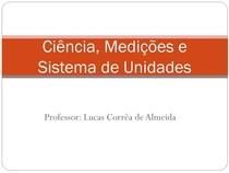 1- Medições e sistema de Unidades