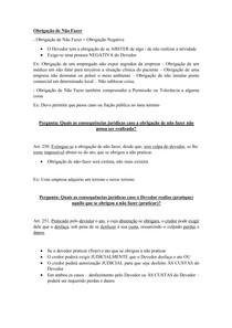 Material de Apoio 07 - Modalidade das Obrigações [Obrigação de Não Fazer]