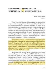 Como Resolver Problemas De Matematica Uma Reflexao Pessoal Didatica
