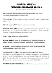 EXEMPLO DOS ELEMENTOS DE UM TCC - TRABALHO DE CONCLUSÃO DE CURSO