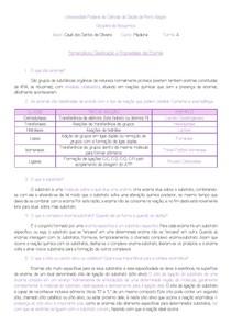 Nomenclatura, Classificação e Propriedades das Enzimas