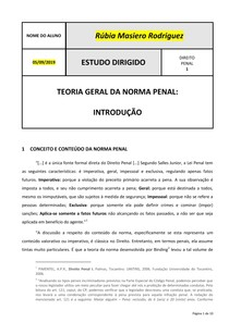 Roteiro 04 - Teoria Geral da Norma Penal