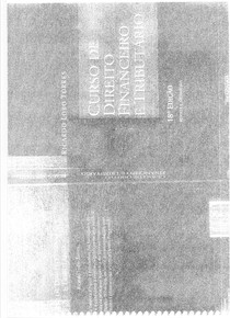 Curso de Direito Financeiro e Tributário - Ricardo Lobo Torres