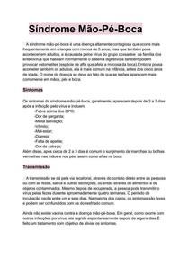 Doença Viral Síndrome mão-Pé-Boca