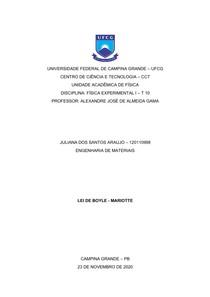 Relatório VII - Lei de Boyle - Mariotte
