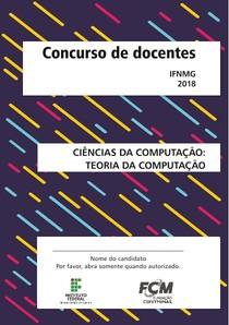 fcm 2018 ifn mg ciencias da computacao teoria da computacao prova