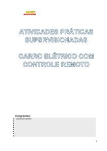 c6d16766501 APS 3º SEMESTRE CARRINHO CONTROLE REMOTO ENGENHARIA UNIP - Ati
