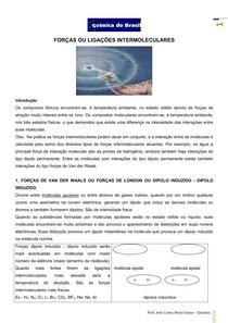 Forças Intermoleculares 1 - teoria (Prof Brasil)