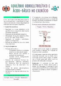 RESUMO - Equilíbrio hidroeletrolítico e ácido-básico no exercício