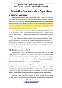direito civil - personalidade e capacidade - 01