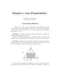 Definições sobre funções, domínios e imagem.