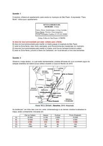Questões FUVEST (fase 1) - Fuso, Escala, Mapa