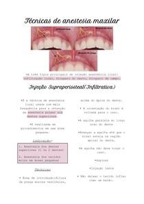 Técnicas de anestesia maxilar