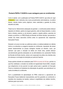 SRV GPL Paper Portaria PGFN 33.2018 Vantagens do contribuinte finalGPL